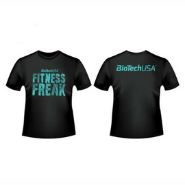 "T-Shirt ""Fitness Freak"" black (M, L, XL, XXL)"