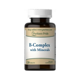 B-Complex with Minerals (120 tabs)