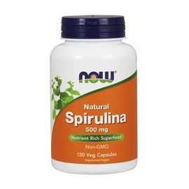 Natural Spirulina 500 mg (120 veg caps)