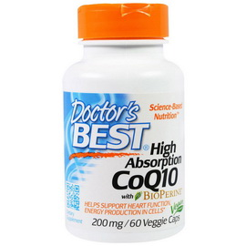 High Absorption CoQ10 200 mg (60 veg caps)