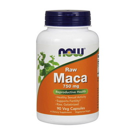 Raw Maca 750 mg (90 veg caps)