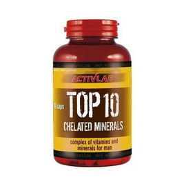 TOP 10 Chelated Minerals (90 caps)