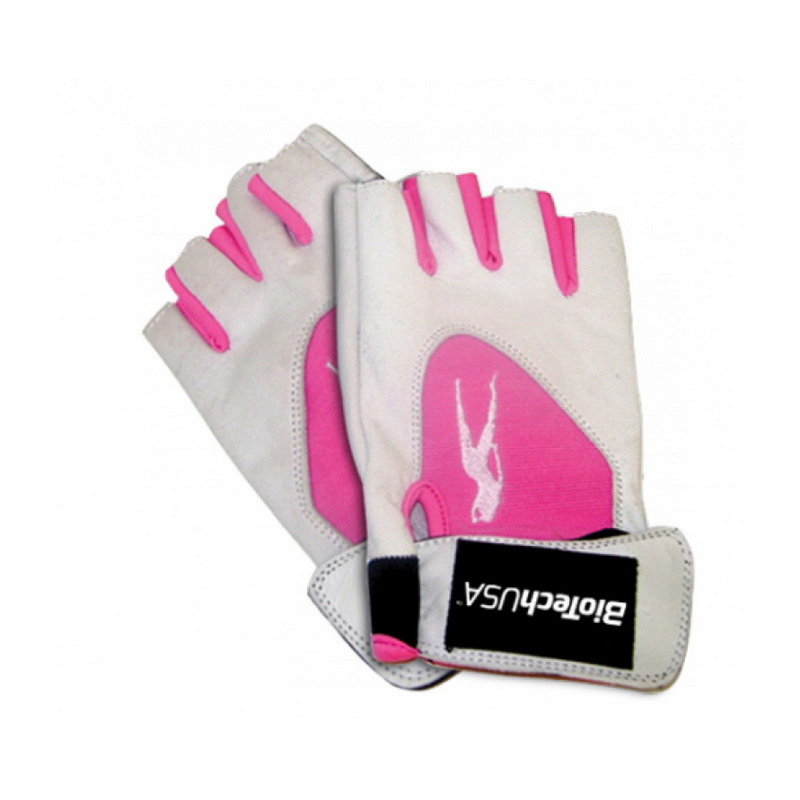 Pink Fit Gloves (white-pink) (S, M, L, XL)