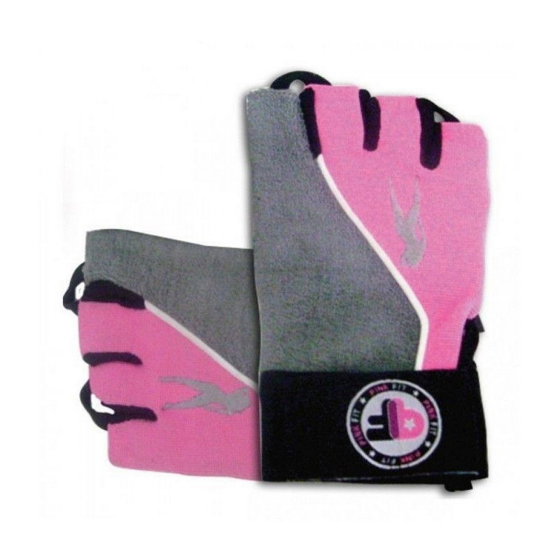 Pink Fit Gloves (grey-pink) (S, M, L, XL)
