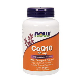CoQ10 60 mg with Omega-3 (120 softgels)