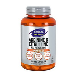 Arginine and Citrulline 500/250 mg (120 caps)