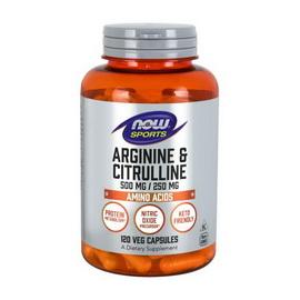 Arginine and Citrulline 500/250 mg (120 caps)