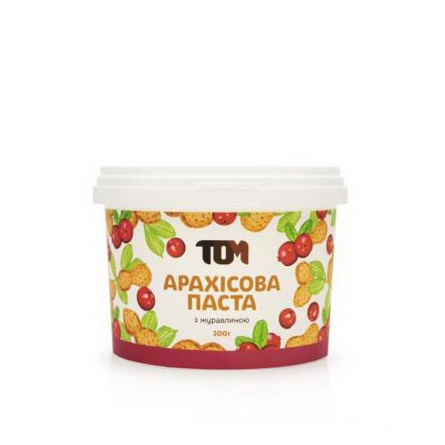 Арахисовое масло с клюквой (300 г)