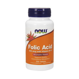 Folic Acid 800 mcg with Vitamin B-12 (250 tabs)