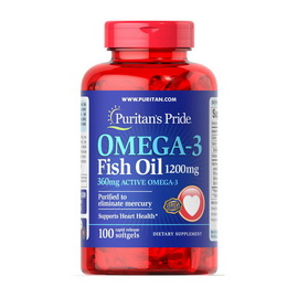 Omega-3 Fish Oil 1200 mg (100 softgels)