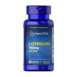L-Citrulline 750 mg Free Form (60 caps)