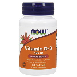 Vitamin D-3 400 IU (180 softgels)