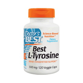 Best L-Tyrosine 500 mg (120 veg caps)