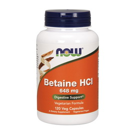 Betaine HCl 648 mg (120 caps)
