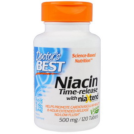 Niacin Time-Release with NiaXtend (120 tabs)
