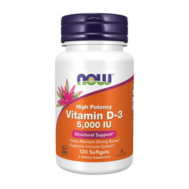 Vitamin D-3 5000 IU (120 softgels)