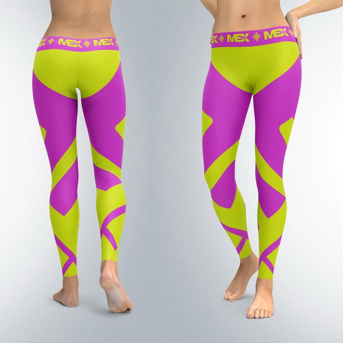 Leggings Fit Girl Purple (XS, S, M, L, XL)