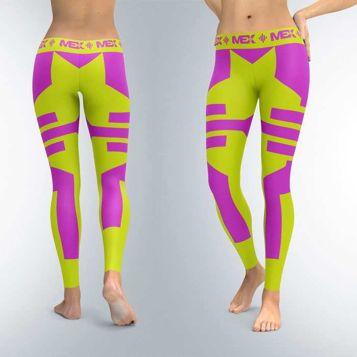 Leggings Fit Girl Lime (XS, S, M, L, XL)