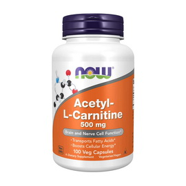 Acetyl-L-Carnitine 500 mg (100 veg caps)