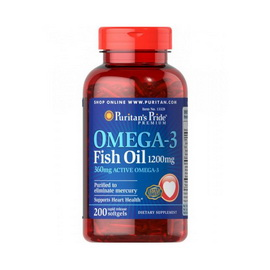 Omega-3 Fish Oil 1200 mg (200 softgelss)