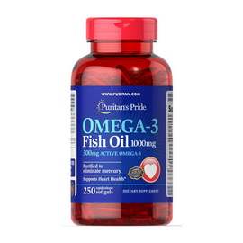 Omega-3 Fish Oil 1000 mg (250 softgels)