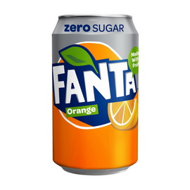 Fanta Zero Sugar Orange (1 x 330 ml)