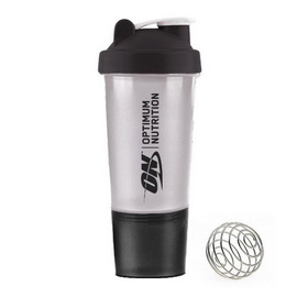 Shaker 2 in 1 with Metal Ball Black (500 ml)