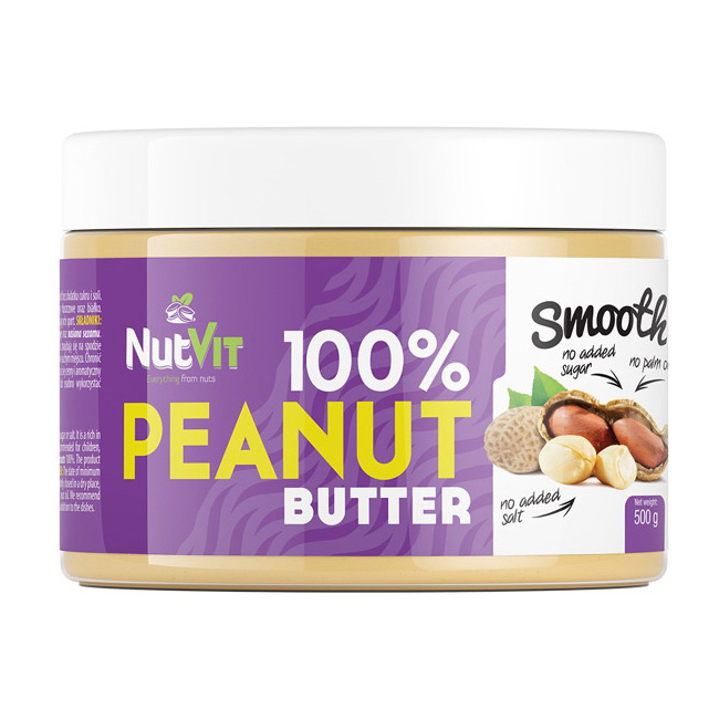 100% Peanut Butter Smooth (500 g)