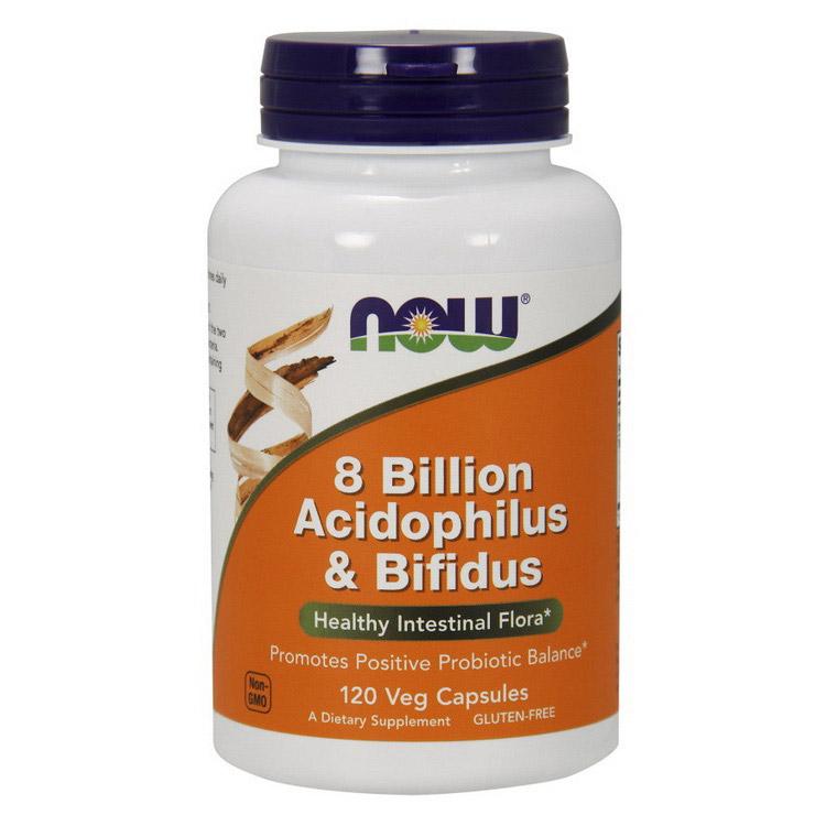 8 Billion Acidophilus & Bifidus (120 veg caps)