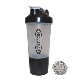 Shaker with Metal Ball 2 in 1 Black (500 ml)