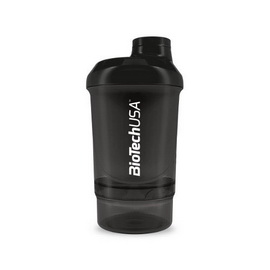 Shaker Wave+ Nano 2 in 1 - Black (300 ml)