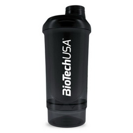 Shaker Wave+ Compact 2 in 1 - Black (500 ml)