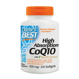 High Absorption CoQ10 100 mg (120 softgels)