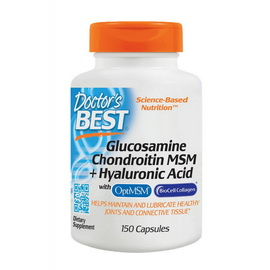 Glucosamine Chondroitin MSM + Hyaluronic Acid (150 caps)