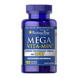 Mega Vita Min Multivitamins for Teens (120 caplets)