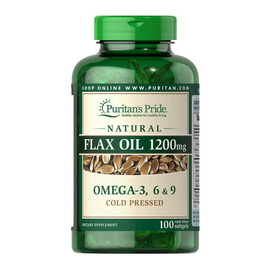 Flax Oil 1200 mg Omega 3-6-9 (100 softgels)