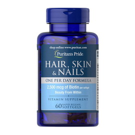 Hair, Skin & Nails One Per Day Formula (60 softgels)