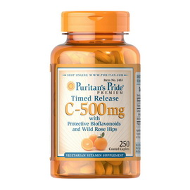 Vitamin C-500 mg with Rose Hips Timed Release (100 caplets)