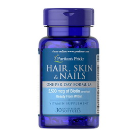 Hair, Skin & Nails One Per Day Formula (30 softgels)