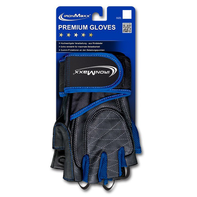 Premium Gloves Blue (S/M, L/XL)