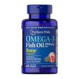 Omega-3 Fish Oil 1000 mg Plus Bone Support (60 softgels)