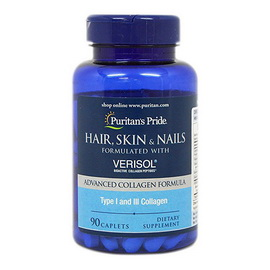 Hair, Skin & Nails with VERISOL (90 caplets)