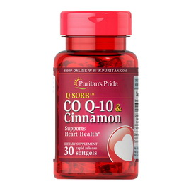 Q-SORB Co Q-10 & Cinnamon (30 softgels)