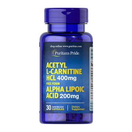 Acetyl L-Carnitine HCl with Alpha Lipoic Acid (30 caps)