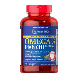 Omega-3 Fish Oil 1200 mg Double Strength (90 softgels)