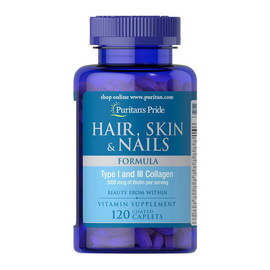 Hair, Skin & Nails Formula (120 caplets)