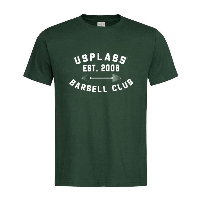 Barbell Club Fitted T-Shirt Green/Black (S, M, L, XL, XXL)