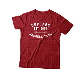 Barbell Club Fitted T-Shirt Red/White (S, M, L, XL, XXL)