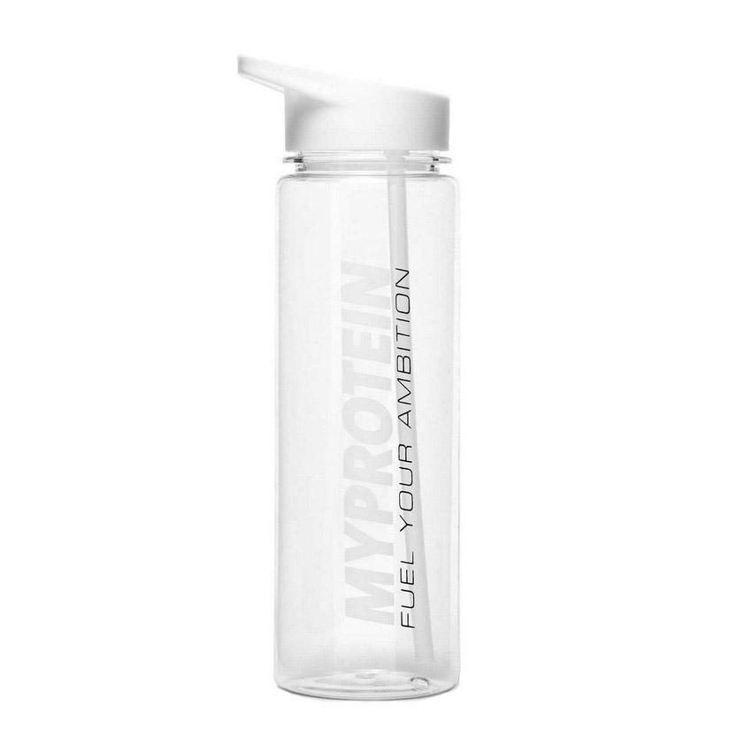 Myprotein Straw Water Bottle White