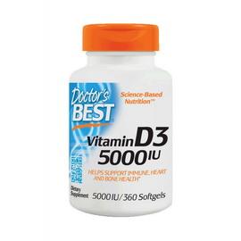 Vitamin D3 5000 IU (360 softgels)